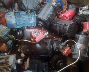 Collection of scrap motors